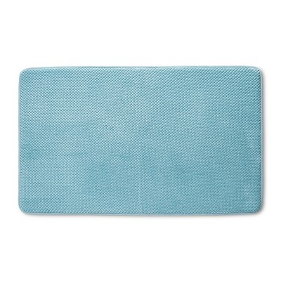 "20"" x 34"" Bubble Memory Foam Bath Rug Green - Threshold™"