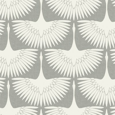 Feather Flock Self-Adhesive Removable Wallpaper By Genevieve Gorder White