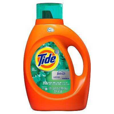 Tide Plus Febreze Freshness Botanical Rain HE Turbo Clean Liquid Laundry Detergent - 92 fl oz