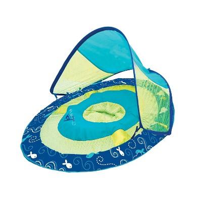Swimways Baby Spring Float Sun Canopy - Blue Sailboat Print