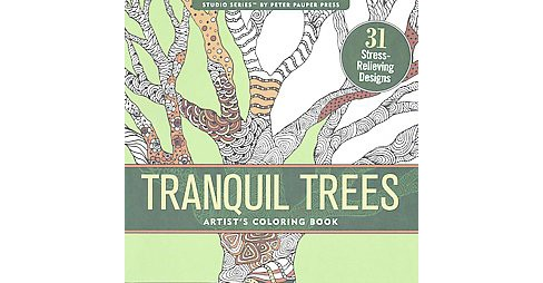 Tranquil Trees : 31 Stress-relieving Designs (Paperback) - image 1 of 1