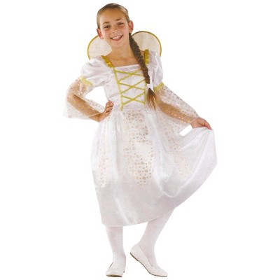 Northlight White and Gold Angel Girl Halloween Children's Costume - Ages 7-9 Years