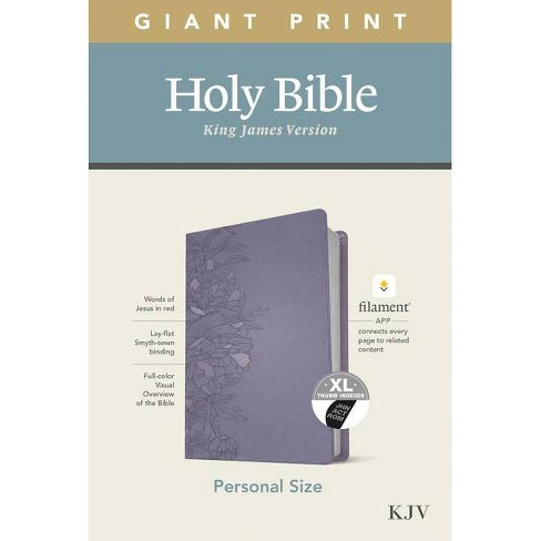 KJV Personal Size Giant Print Bible, Filament Enabled Edition (Leatherlike, Peony Lavender, Indexed) - Large Print (Leather Bound) - image 1 of 1