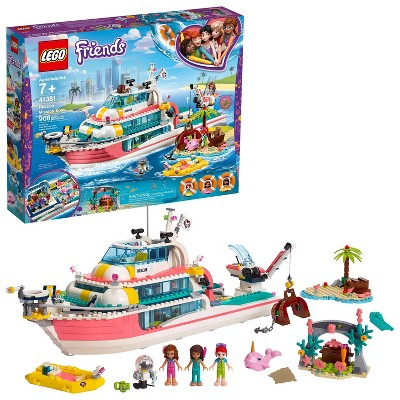 LEGO Friends Rescue Mission Boat Building Kit Sea Creatures for Creative Play 41381
