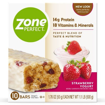 Zone Perfect Strawberry Yogurt Nutrition Bars - 10pk/15.8oz
