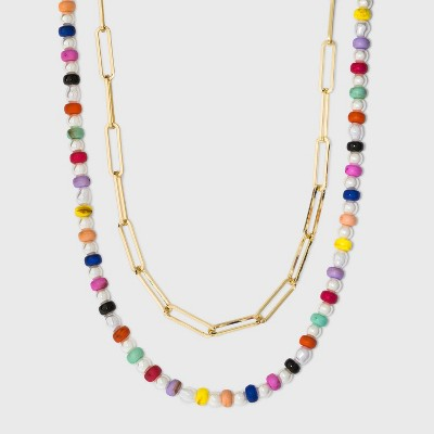 SUGARFIX by BaubleBar Beaded Link Chain Necklace