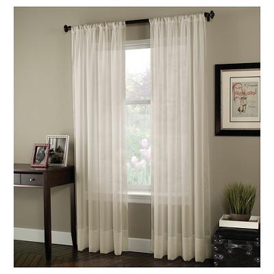 Curtainworks Soho Voile Curtain Panel - Oyster (108 )