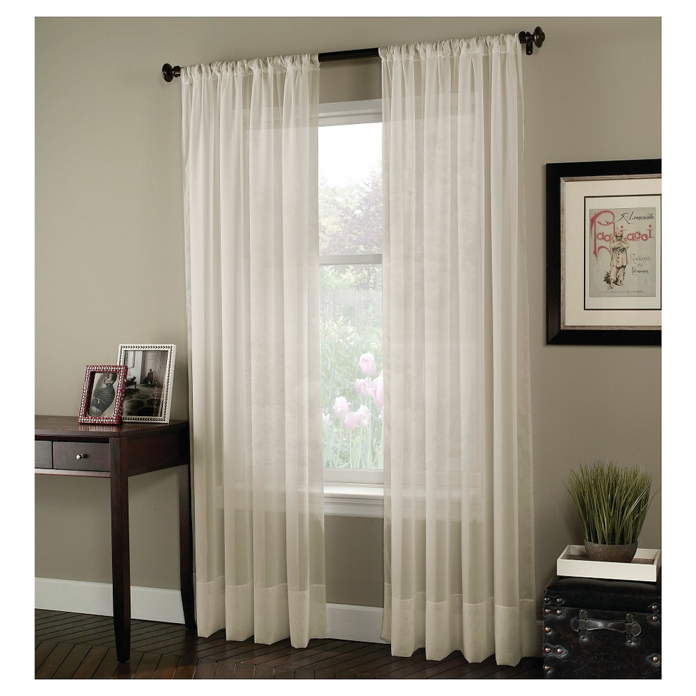Curtainworks Soho Voile Curtain Panel - Oyster (84)
