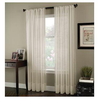 Curtainworks Soho Voile Curtain Panel Cream