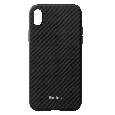 Evutec Apple iPhone XS Max AER Karbon Case (with Car Vent Mount) - Black