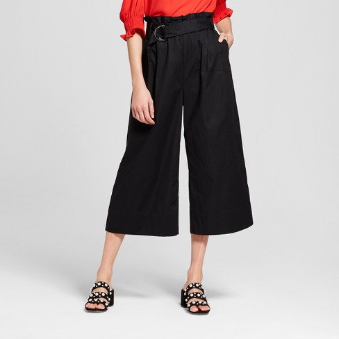 Women's Wide Leg Paperbag Crop Pants - Who What Wear™ - image 1 of 3