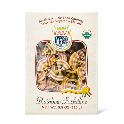 Torino Organic Rainbow Farfalline Pasta - 8.8oz