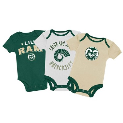 NCAA Colorado State Rams Baby Boys' 3pk Bodysuit Set