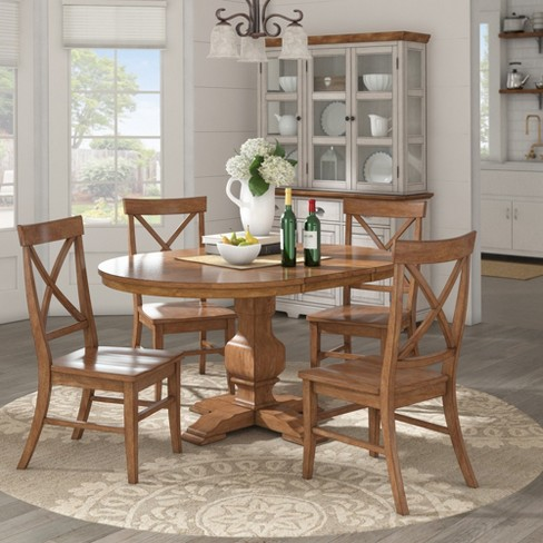 South Hill Oval Extendable Pedestal Base Dining Table