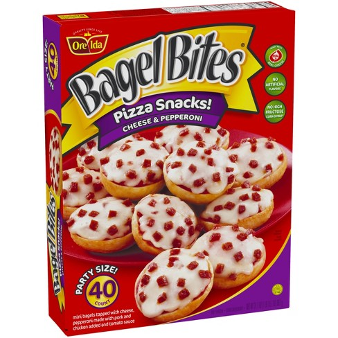 Ore Ida Bagel Bites Cheese And Pepperoni Frozen Mini Bagels 40pk