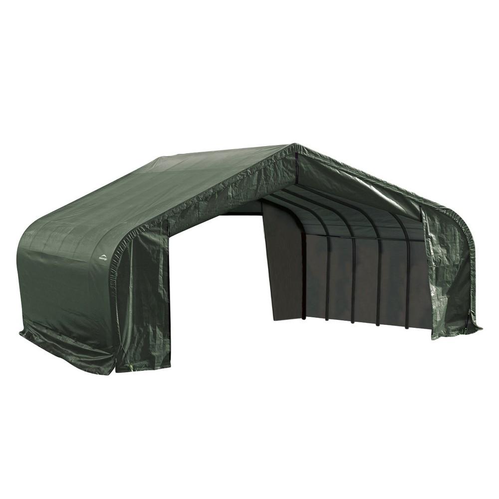 22' X 24' X 10' Peak Style Shelter- Green - Shelterlogic