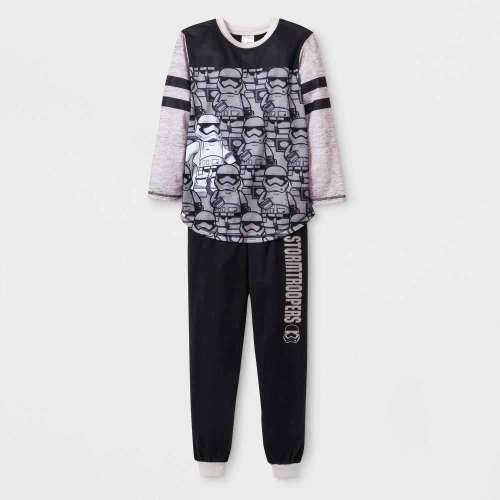 Boys' Star Wars Stormtrooper 2pc Pajama Set - Black L