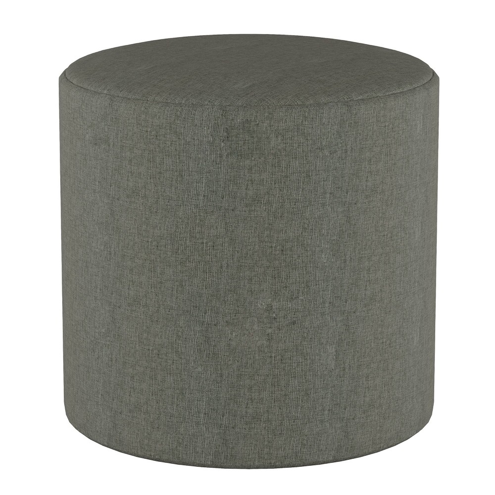 Round Ottoman in Zuma Charcoal Gray - Project 62