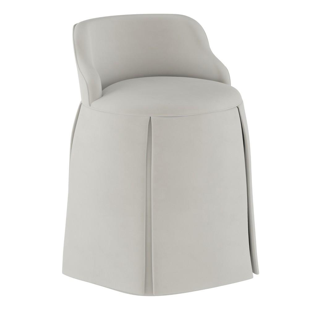 Vanity Chair Velvet Light Gray - Simply Shabby Chic