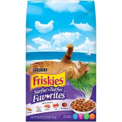 Purina Friskies Surfin' & Turfin' Favorites Dry Cat Food - 3.15lbs