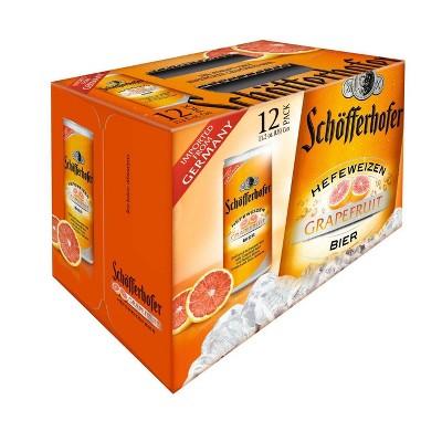 Schofferhofer Hefeweizen Grapefruit Beer - 12pk/11.2 fl oz Slim Cans