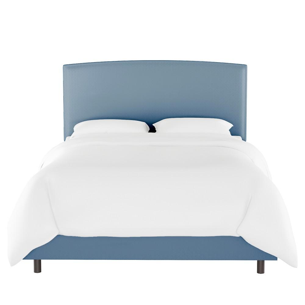 King Upholstered Bed Light Blue Velvet - Opalhouse
