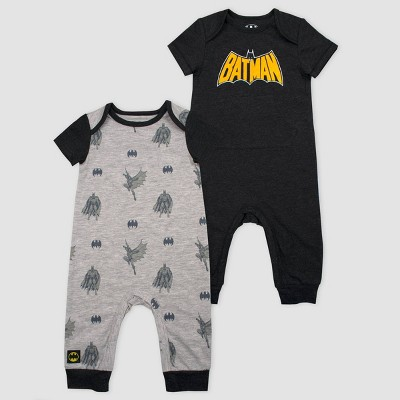 Baby Boys' Warner Bros Batman Logo 2pc Hooded Set - Black 3M