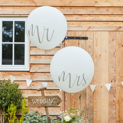 Ginger Ray  Mr And Mrs  Balloons
