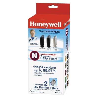 Honeywell 2pk True HEPA Allergen Remover Replacement Filter N