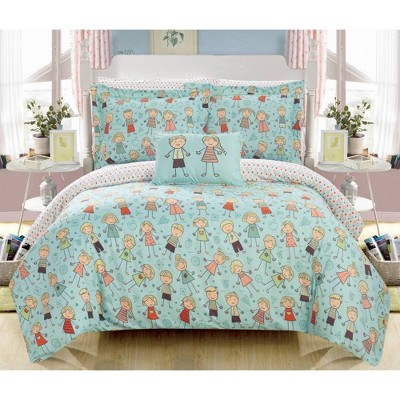 8pc Full Dumbo Bed in a Bag Comforter Set Green - Chic Home Design