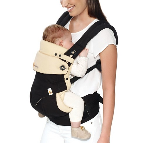 394991252e6 Ergobaby 360 All Carry Positions Ergonomic Baby Carrier With Bundle Of Joy  Infant Insert - Black Tan   Target