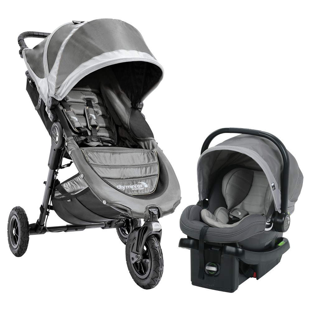 Image of Baby Jogger City Mini GT Travel System - Steel Gray, Silver Gray