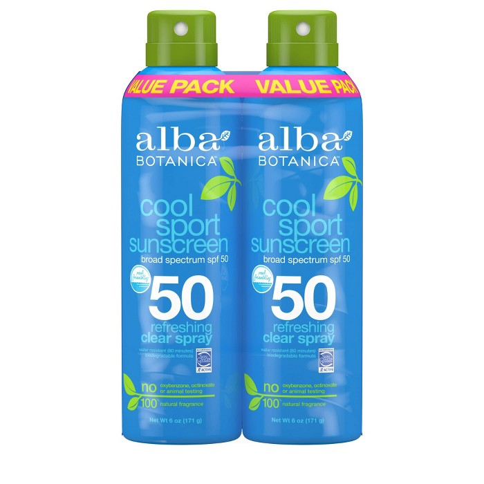 Alba SMS Cool Sport Spray Twin Pack - SPF 50 - 6oz - image 1 of 2