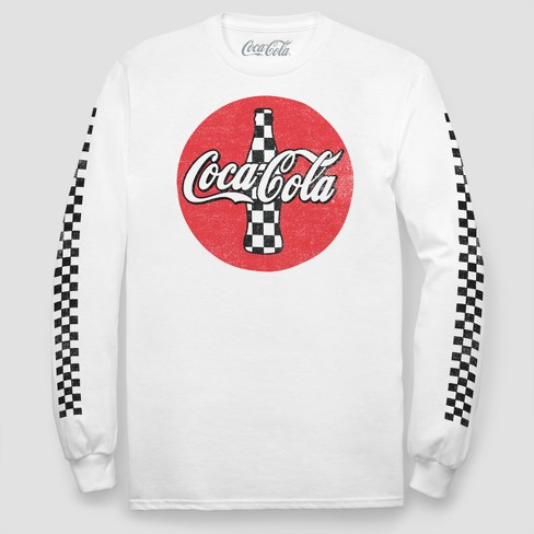 Men's Coca-Cola Long Sleeve T-Shirt - White - image 1 of 1