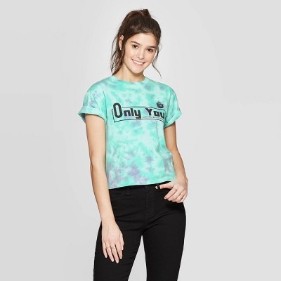 Women's Smokey Bear Short Sleeve Graphic T Shirt   Mighty Fine (Juniors')   Teal by Shirt