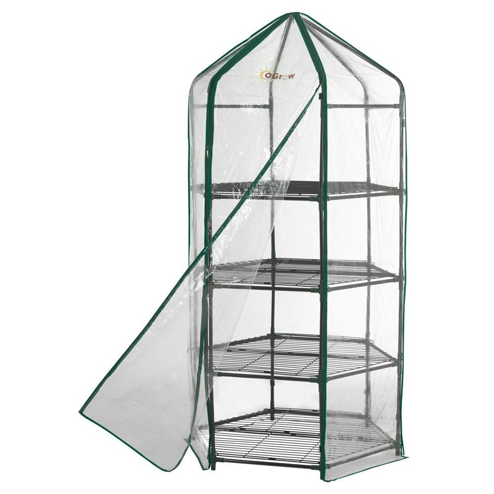 Image of Ultra - Deluxe 4 Tier Hexagonal Flower Planthouse - Light Clear - Ogrow