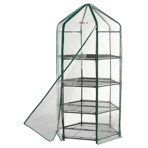 Ultra - Deluxe 4 Tier Hexagonal Flower Planthouse  - Light Clear - Ogrow - image 1 of 6