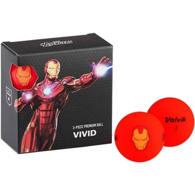 Volvik Marvel Golf Balls 4pk-Iron Man