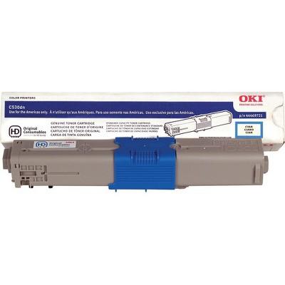 OKI 44469721 Toner Cartridge, 5K Yield, Cyan