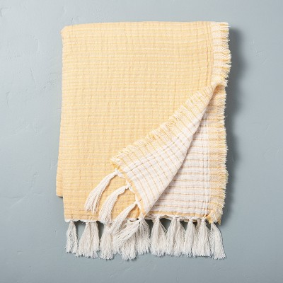 Solid Gauze Throw Blanket Golden Lotus - Hearth & Hand™ with Magnolia