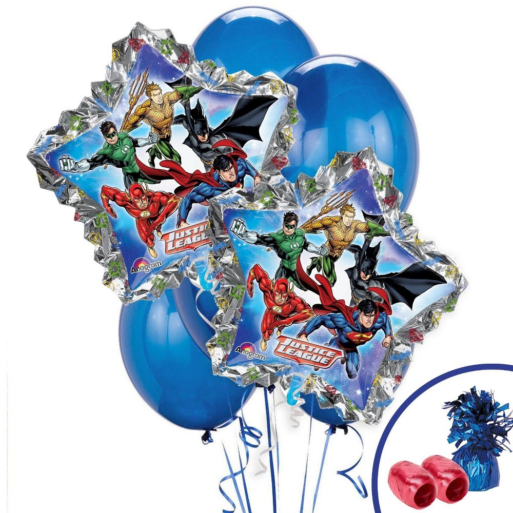 Justice League Jumbo Balloon Bouquet, Multi-Colored