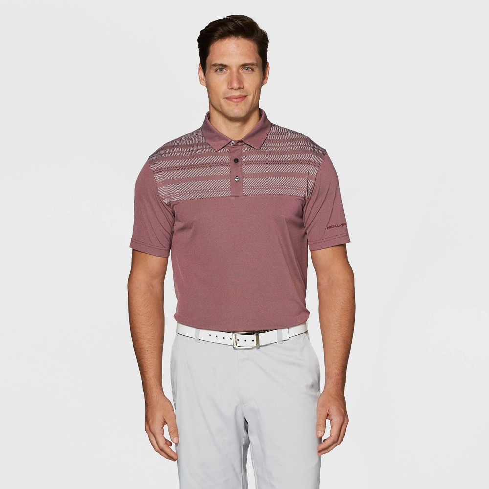 Image of Men's Jack Nicklaus Golf Polo Shirt - Burgundy L, Size: Large, Red