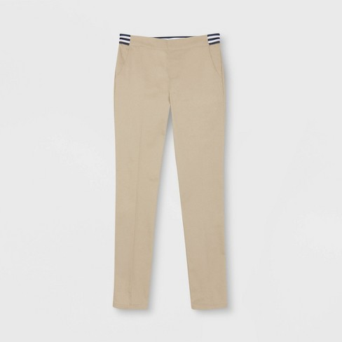 845befe13 French Toast Girls' Woven Pull-On Uniform Chino Pants with Contrast  Waistband