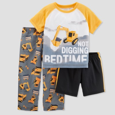 Baby Boys' 3pc Not Digging Bedtime Pajama Set - Just One You® made by carter's Yellow 12M