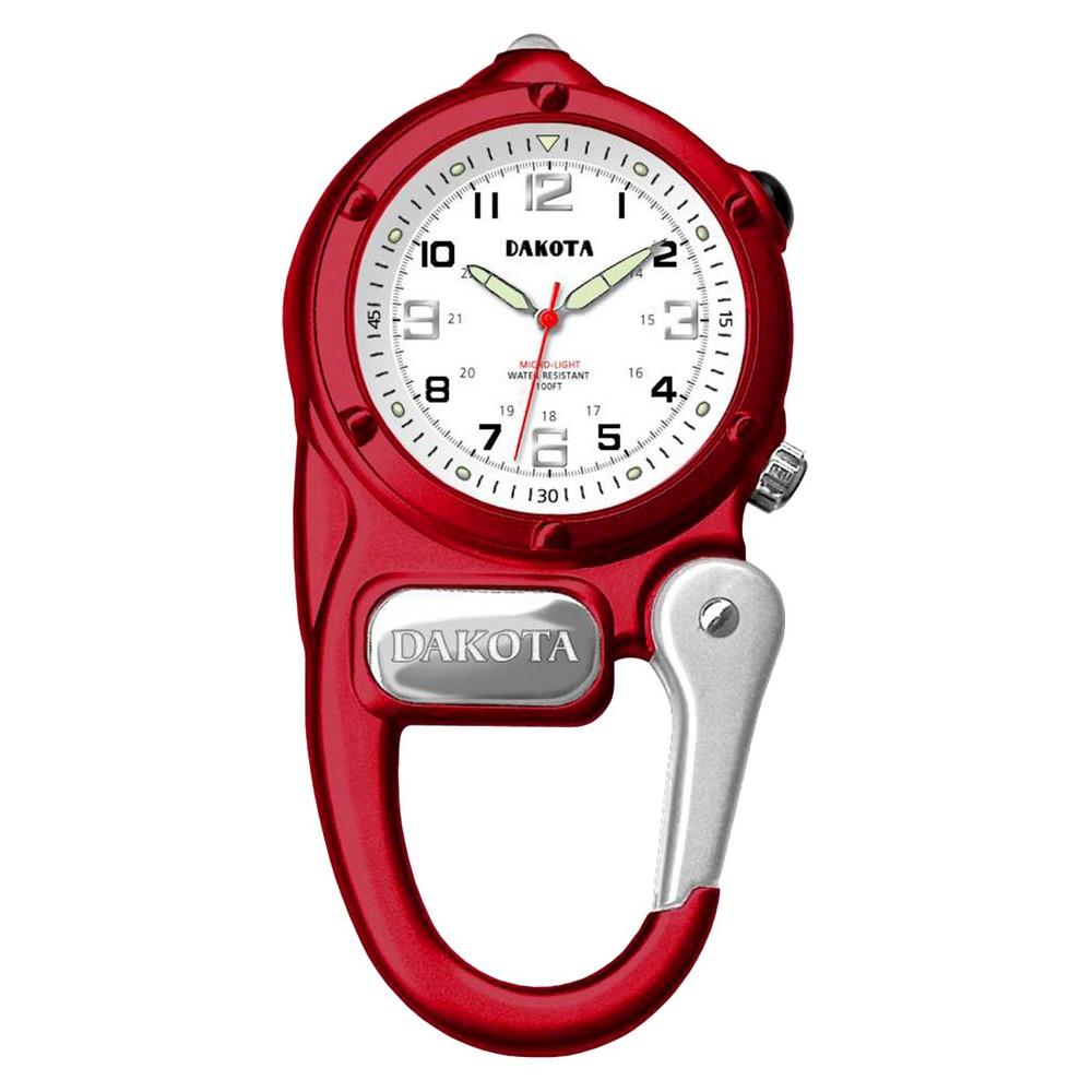 Image of Men's Dakota Mini Clip Microlight Watch - Red, Size: Small