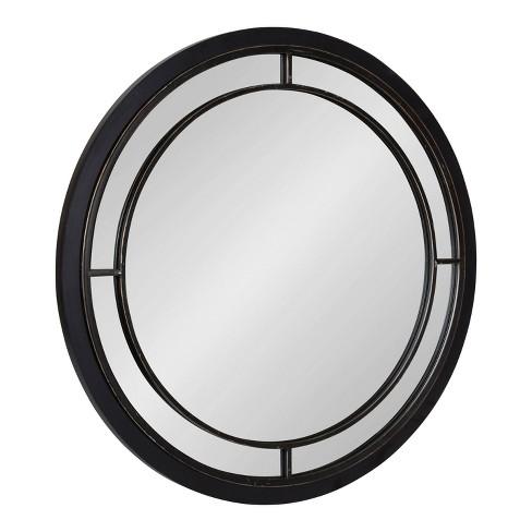 "28"" Audubon Round Wall Mirror Black - Kate & Laurel All Things Decor - image 1 of 4"