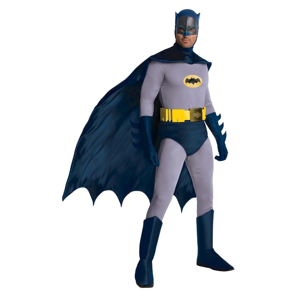 Batman Men DC Comic Claic 1966 erie Grand Heritage Batman Cotume