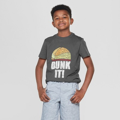 4a11566ae35b Boys  Dunk It Short Sleeve Graphic T-Shirt - Cat   Jack™ Gray