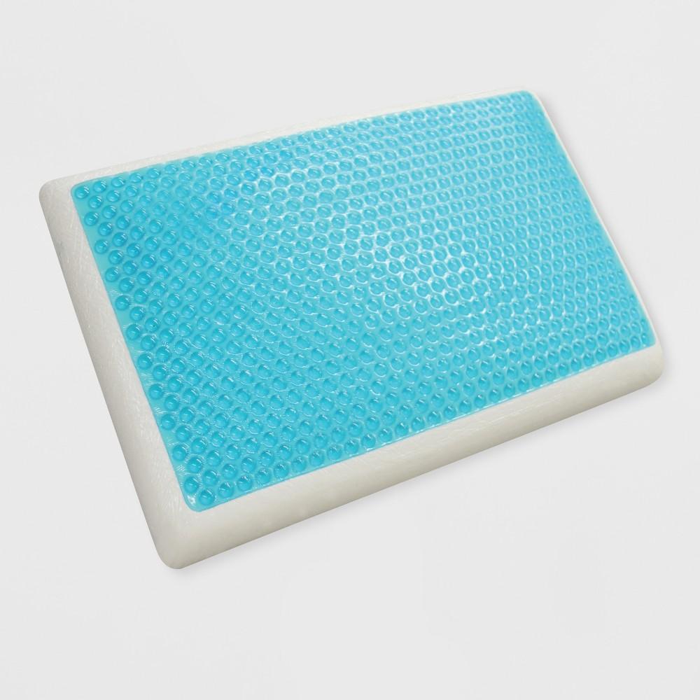 Image of Standard Reversible Cool Gel and Memory Foam Pillow White - Jubilee Mattress