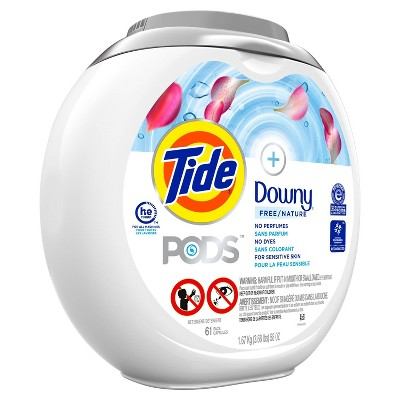 Tide Pods + Downy Free Liquid Laundry Detergent Pacs - 61ct